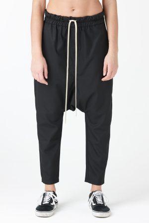 pantalone poli nero uomo amcouture
