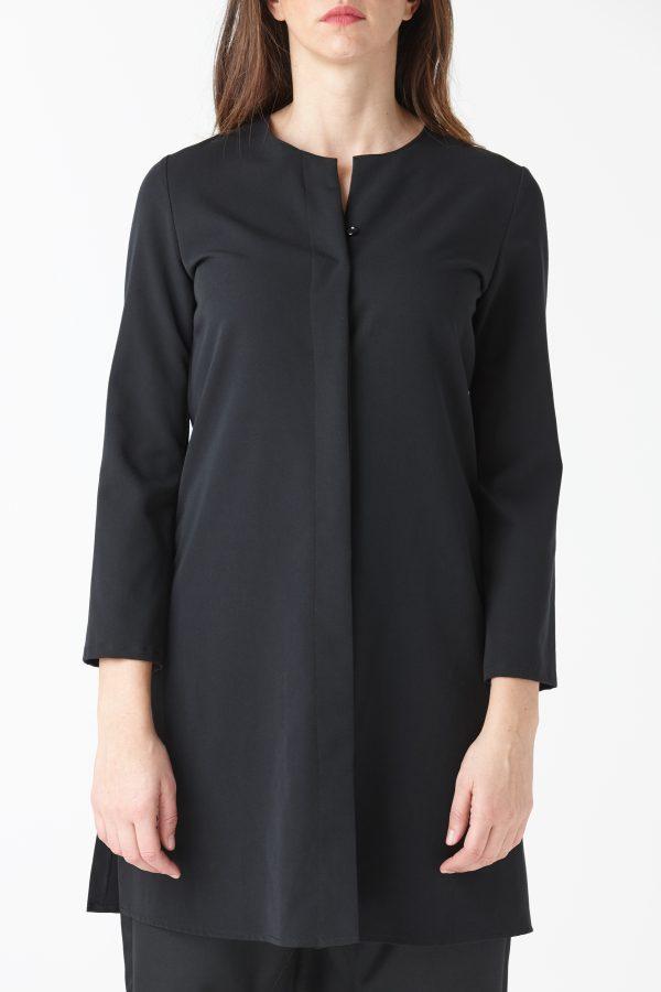 camicia over nera donna amcouture