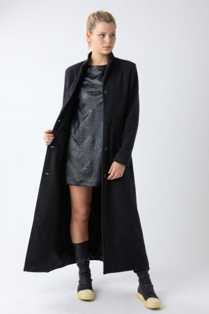 COAT KOREAN BLACK WOMAN AMCOUTURE
