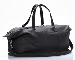 Black leather bag amcouture