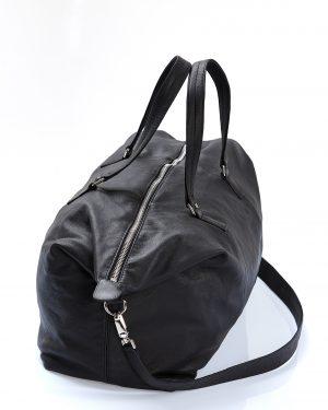 borsa pelle nera amcouture