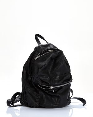backpack black leather amcouture