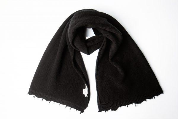 sciarpa lana nera amcouture
