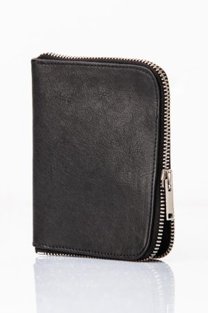 wallet small black skin amcouture