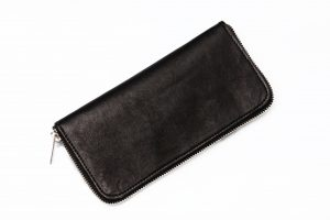 wallet black leather amcouture