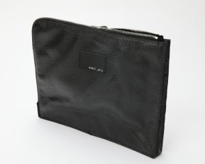 porta computer pelle nera amcouture