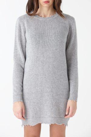 maxi maglione maglie larghe lana grigia amcouture