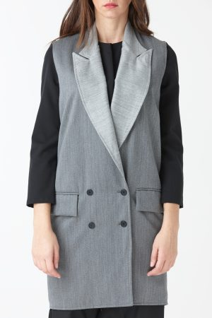 gilet over cady gray woman amcouture