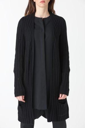 cardigan strappi nero donna amcouture
