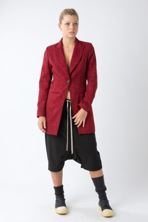 RED WOMAN'S RED SPEARNECK JACKET AMCOUTURE