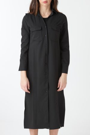 long shirt black woman amcouture