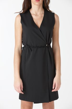 Short dress cady black woman amcouture