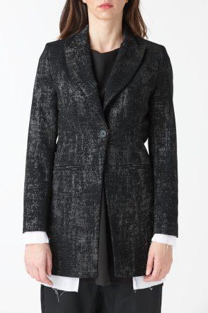 giacca classica nera velluto donna amcouture