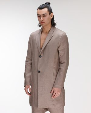 trench linen tortoise man amcouture