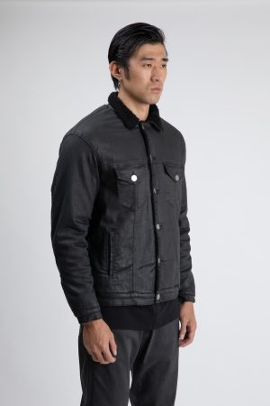 men's black jeans jacket amcouture