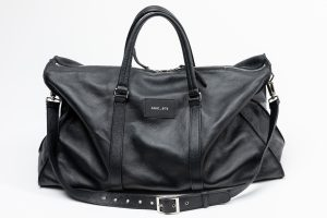 bag black leather amcouture