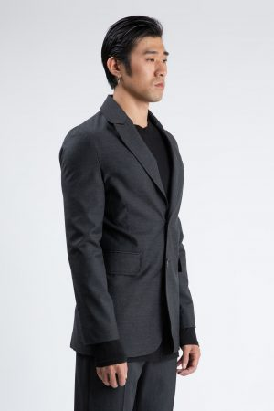 dark grey single-breasted jacket man amcouture