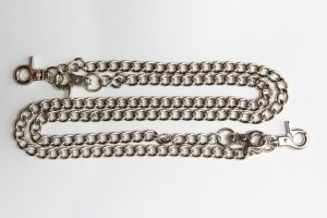silver double trouser chain amcouture