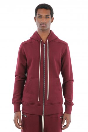 felpa zip bordeaux uomo amcouture