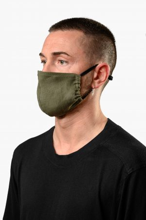 A.M. MASK LINO VERDE MILITARE AM COUTURE