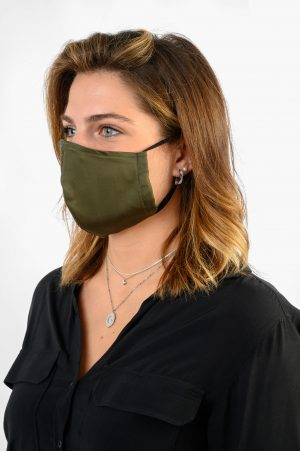 A.M. MASK DONNA COTONE VERDE AM COUTURE