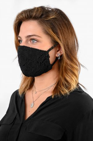 A.M. MASK DONNA PIZZO NERO AM COUTURE