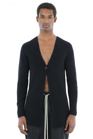 cardigan nero amcouture